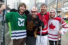 Five Hole For Food (Celebrity Game): Kris Krug, Dave Olson, Dan Mangan, Bob Kronbauer - photo Jeremy Lim