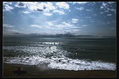 Lovelyday (Baba Sakae) Tags: blue sea sky cloud beach japan seaside surf wave shore breaker surfin panoramafotogrfico