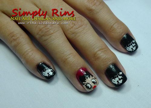 Valentines Nail Art - Betty Boop 03