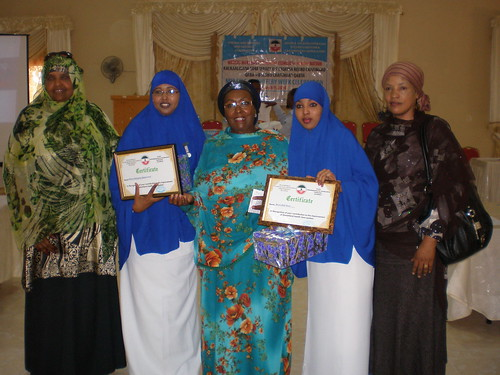Executive Director SNMA, Nimo, Edna, Muna and Matron during award of best Midwives