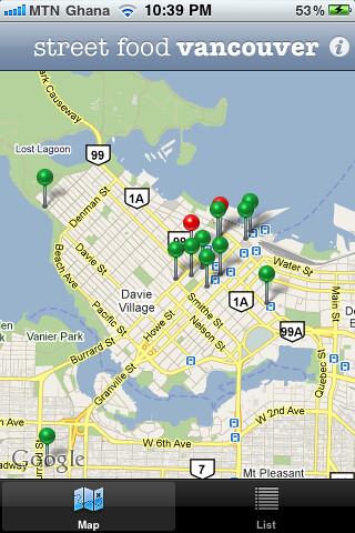 Vancouver Street Food Vendor App
