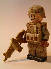 Desert Soldier (~Amadgunslinger~) Tags: black modern call desert lego fig duty mini camo ama warrior minifig custom ops warfare hac brickarms