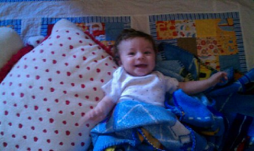 Baby Daniel on his quilt!