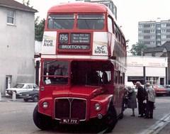 RM  772   20/5/81 (colinfpickett) Tags: bus classic coach streetscene routemaster daimler rm londontransport dms aec vintagebus classicbus