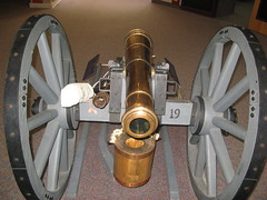 Cannon in the visitors center