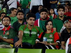 Bangladeshi Fans after the Indian Innings (rushdi13) Tags: world people india color cup canon stand gallery sad stadium grand powershot cricket national tigers match opening fans dhaka icc distressed bangladesh 2011 mirpur s95 sherebangla canonpowershots95