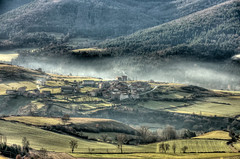 Small smoking village in a valley (* Thierry *) Tags: winter france st rural landscape village dragon hiver small du smoking valley paysage campaign campagne thierry petite auvergne brume 2010 volcan privat valle stprivatdudragon dblringexcellence warichet