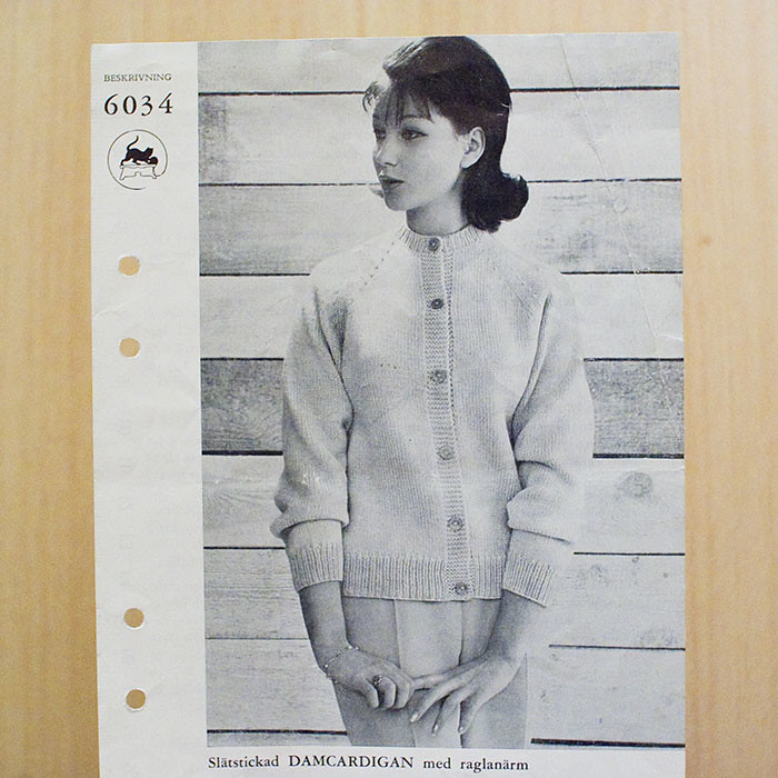 Old knitting pattern
