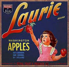 Laurie Brand (DALAIWMN) Tags: illustrations apples vintageads fruitlabelsapples