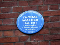 Photo of Thomas Walder blue plaque