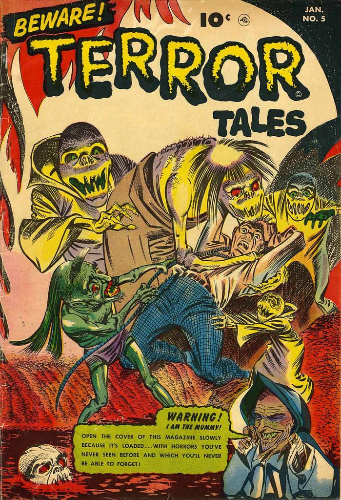 Beware Terror Tales #5 Bernard Bailey Cover (Fawcett, 1953)