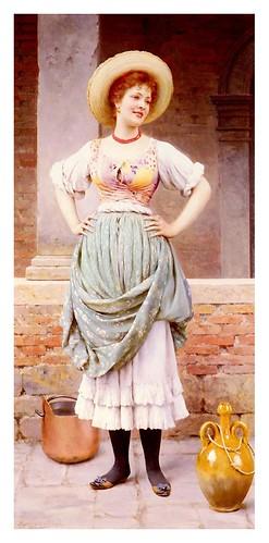 013-Una mirada cariñosa-Eugene de Blaas 1909