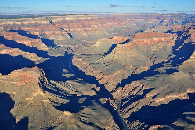 Grand Canyon DEIS Aerial Colorado River Geikie Peak by Grand Canyon NPS
