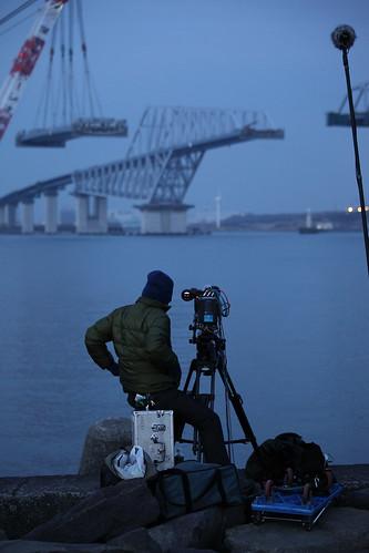 東京ゲートブリッジ 中央径間箱桁架設工事