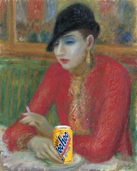 Woman in Café with Yoo-Hoo and Cigarette, afte...