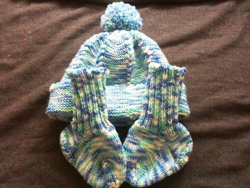 Set: Mütze und Socken