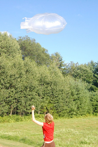 test kite balloon with molly, 2008