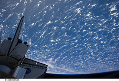 Space Shuttle Discovery Over Earth (NASA, International Space Station, 02/26/11) (NASA's Marshall Space Flight Center) Tags: earth nasa discovery spaceshuttle stationscience crewearthobservation stationresearch