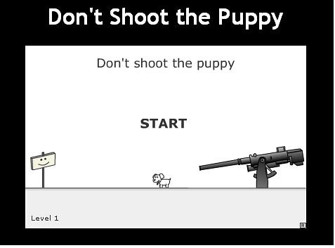 no dispares al perrito