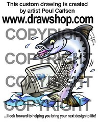 Barracacuda with computer (Poul Carlsen - DrawShop.com) Tags: pictures fish art logo design sketch 3d artwork graphics artist graphic image drawing render stock picture free illustrations drawings images mascot emoticons artists clipart illustrator custom sketches vectors mascots vector logos smileys smilies renders maskot cliparts vectorgraphics 3dmodelling customwork customgraphic poulcarlsen barracacuda