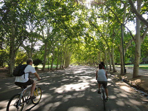 Biking in Parque San Martin