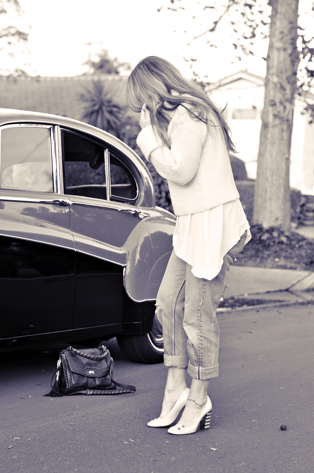 50's jaguar, vintage levis, marc jacobs shoes, cynthia rowley bag, DSC_0084