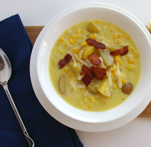 Cheddar Corn Chowder - close crop