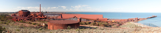 Whyalla Pellet Plant from Hummock Hill