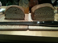 Comparing two sourdough loaves