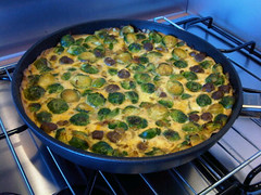 Curried sprouts fritatta 2