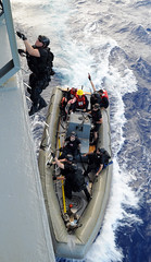 Sailors during exercise Koa Kai off Hawaiian Islands. (Official U.S. Navy Imagery) Tags: training navy pacificocean sailor usnavy shipboard guidedmissilefrigate ussreubenjamesffg57 koakai