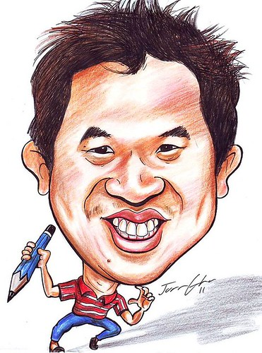 My caricature by El Cinco Juan Gha