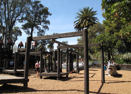 Neat kids playground at Alameda Park (aka Kid's World)