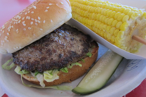 Hamburger Habit: The Big Scene Burger (#2) + Corn on the Cob