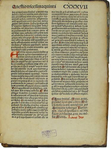Colophon in Institoris, Henricus and Sprenger, Jacobus: Malleus maleficarum