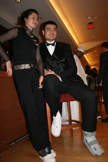 "March 10th, 2011 - Yao Ming and wife Ye Li attend the Rockets' ""Tux & Tennies"" charity gala"