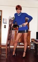 Karen (Karen Maris) Tags: pumps highheels legs tights karen tgirl transgender tranny transvestite heels latex pantyhose crossdresser crossdress tg transsexual feminized enfemme