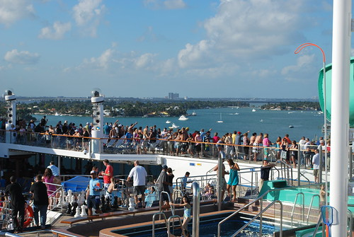 On the Lido Deck While Leaving Miami