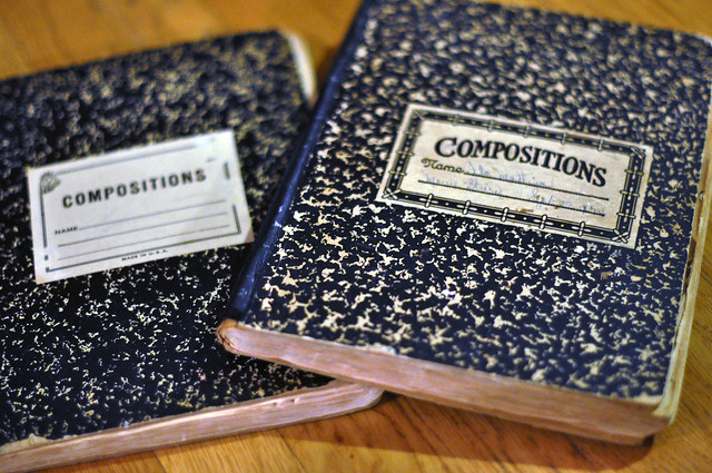 composition books from the 1930's, old hollywood movie stars, DSC_0337