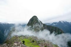 Machu Picchu tra la nebbia