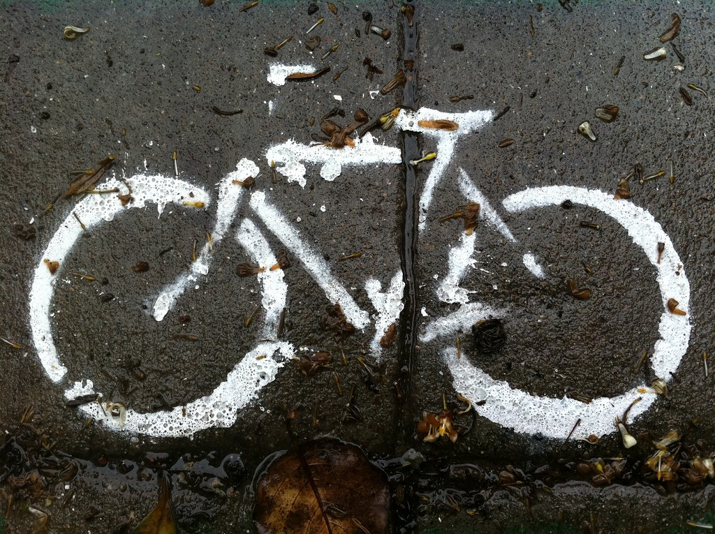 wet bent bicycle paint