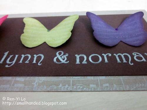 To Lynn & Norman