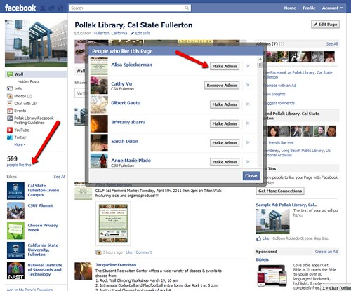 New Facebook Pages: Adding admins from your fans list