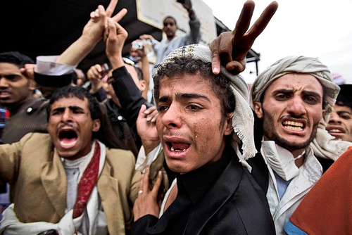 Yemenis are in agony over the repression of popular demonstrations inside the country. Despite the killing of 45 people by the U.S.-backed regime on March 18, 2011, the Obama administration says nothing. by Pan-African News Wire File Photos