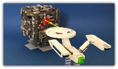 LEGO Star Trek ,Enterprise vs Borg . (peter-ray) Tags: battleship starship brick moc lego space ship warship star trek wars astronave fighter peter ray shi fii shiptember borg enterprise