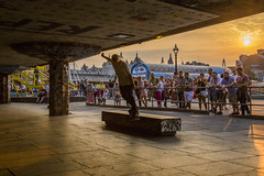 Callum O'Donnell - Back Smith in Southbank Sunset (JonnyVSM) Tags: london skate skateboarding southbank ledge grinding smith back backside sunset sunny august summer orange silhouette sky wow boarding boarder skateboard spectators crowd watching shadows gold england sidewalk
