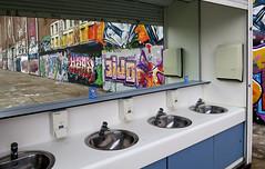 graffiti amsterdam (wojofoto) Tags: graffiti amsterdam nederland holland netherland wojofoto wolfgangjosten streetart ndsm spiegel reflection reflectie wasbak