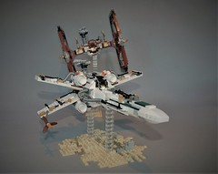 Steampunk dogfight X-wing vs Tie fighter (adde51) Tags: adde51 lego steampunk steamwars starwars star wars xwing tiefighter tie fighter dogfight airplane moc