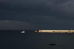 Italien5 (Christian Henking) Tags: italien apulien otranto hafen abendlicht schiff meer