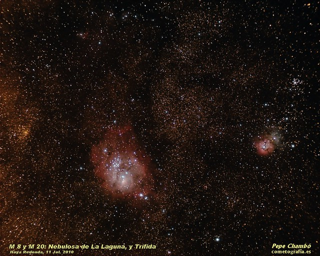 Lagoon and Trifid Nebulas